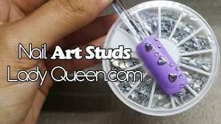 Nail art silver stud wheel demo | Lady queen.com