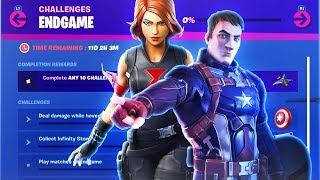 The NEW Fortnite AVENGERS ENDGAME CHALLENGES FREE REWARDS! (New Fortnite x Avengers Challenges)
