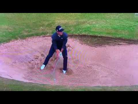 Golf Rules - Patrick Cantlay Firmly Places His Feet In Taking His Stance