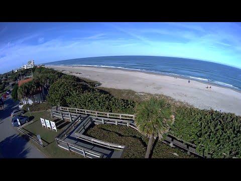 Indialantic Florida 5th Aveune Beach Blade 350 QX Drone Flyover