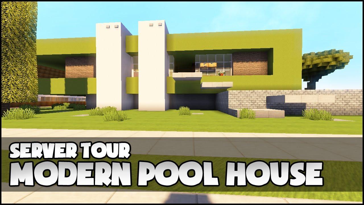 Modern Pool House minecraft - modern pool house - youtube