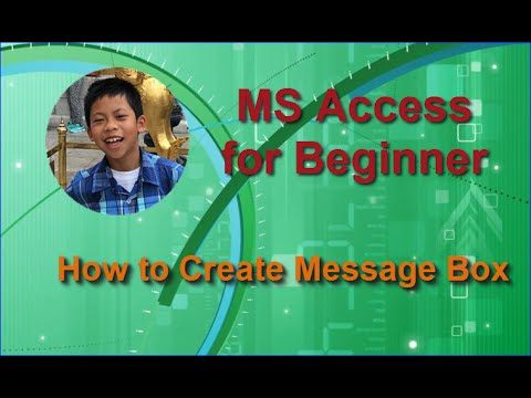 MS Access for Beginner: Create a Pop-Up Message Box