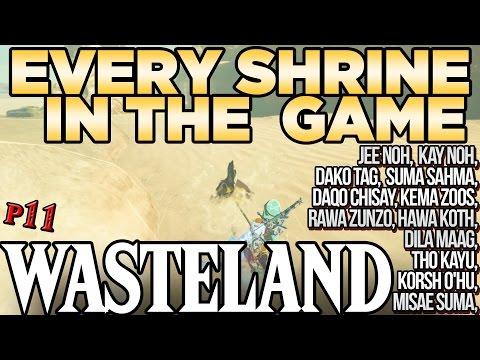 Every Shrine in Wasteland - Jee Noh, Hawa Koth, Daqo Chisay Tho Kayu, & More! Breath of the Wild
