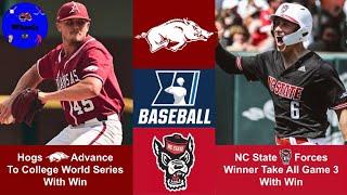 #1 Arkansas vs NC State Highlights | Super Regional Game 2 | 2021 College Baseball Highlights