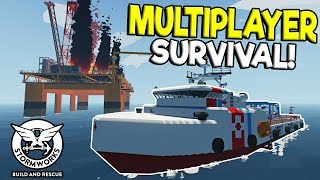 MULTIPLAYER SINKING SHIP SURVIVAL & RESCUE! - Stormworks: Build and Rescue Update Gameplay