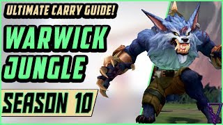 Rank Up With Warwick Jungle Season 10 | Ultimate Carry Guide | League of Legends