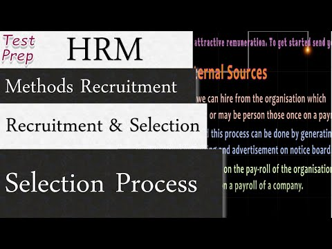 Recruitment And Selection: Methods of Recruitment & Selection Process (HRM)
