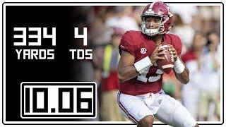 Tua Tagovailoa Full Highlights Alabama vs Arkansas || 10.06.18 || 334 Yards, 4 TDs