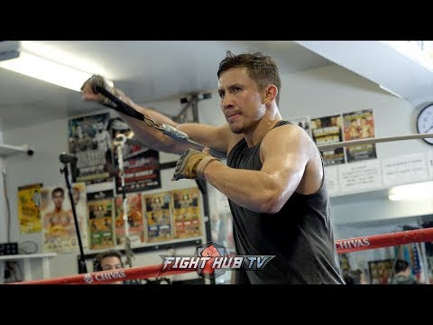 A SNEAK PEAK OF GENNADY GOLOVKIN'S STRENGTH & CONDITIONING WORKOUT FOR CANELO REMATCH!