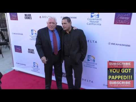 GW Bailey and Raymond Cruz arriving to the Covenant House Of California's Annual Fundraising Gala