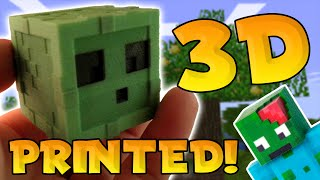 MINECRAFT PE in REAL LIFE?! - 3D PRINT YOUR OWN SKIN - 3D Printed Minecraft/MCPE Skins