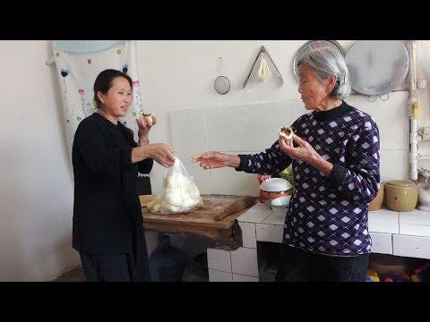 干豆角做成的大包子太好吃,农村80岁婆婆一口气吃俩还掂走一大袋