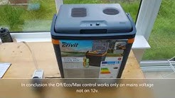 Crivit 30L Electric Cool Box review Off Eco Max control