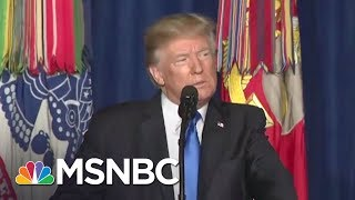 Donald Trump Takes Ownership Of Afghanistan War With New Announcement   Rachel Maddow   MSNBC