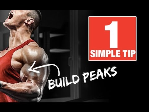 How To Build Bigger Biceps Peaks - With 1 Simple Tip!
