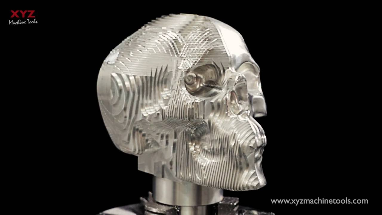 Cnc Machining A Skull 5 Axis Youtube