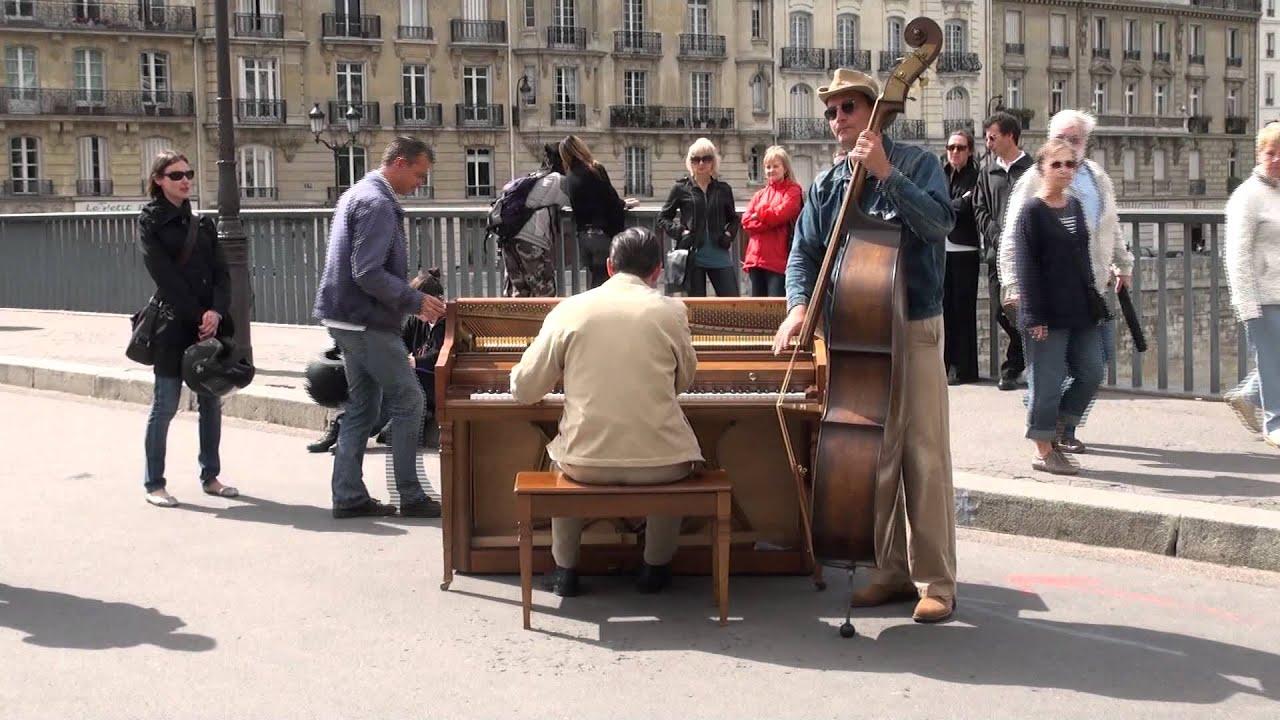 street performers in paris public domain stock footage