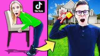 Testing Viral Tik Tok Life Hacks to BUY Mom's House! (24 Hour Secret Reveal)