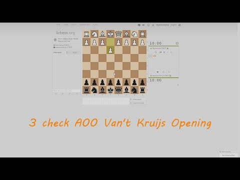 3 check A00 Van't Kruijs Opening Game 1