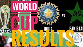 India v Pakistan all world cup results 🙂🙂🙂🙂