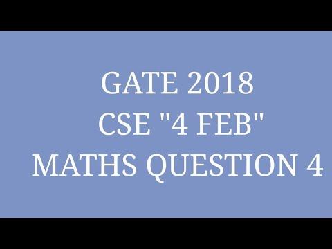 Gate 2018 cse mathematics questions / gate 2018 cs memory based ...