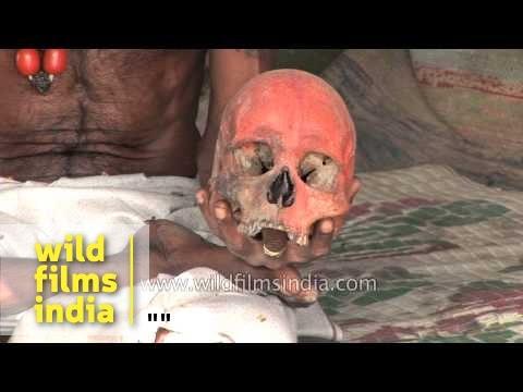 Aghori with human corpse