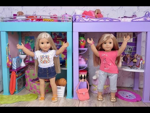 Setting Up American Girl Doll McKenna And Gabby Loft Beds!