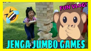 Playing JUMBO JENGA Games with Sista Happy times Review