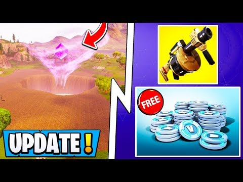 *NEW* Fortnite Update Today!   Free VBucks Challenge, Map Changes, Drained Lake!