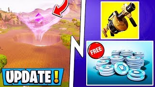 *NEW* Fortnite Update Today! | Free VBucks Challenge, Map Changes, Drained Lake!
