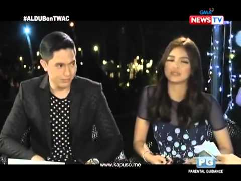 Alden Richards and Maine Mendoza at Tonight With Arnold Clavio Full ‪#‎ALDUB31stWeeksary‬