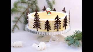 Идеи для простого и красивого оформления Ваших тортиков в Новому 2017 году