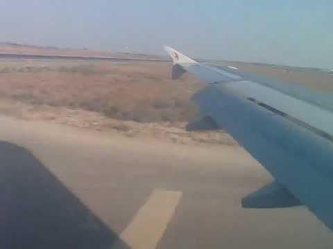 Air arabia  landing in Sharjah International Airport