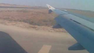 Air arabia  landing in Sharjah International Airport