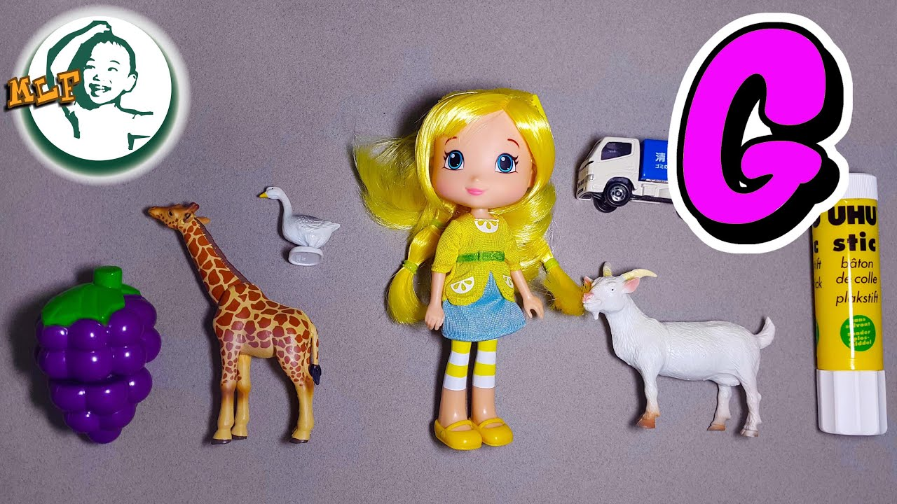 Words That Start With G Learn Alphabet G With Common Toys Youtube