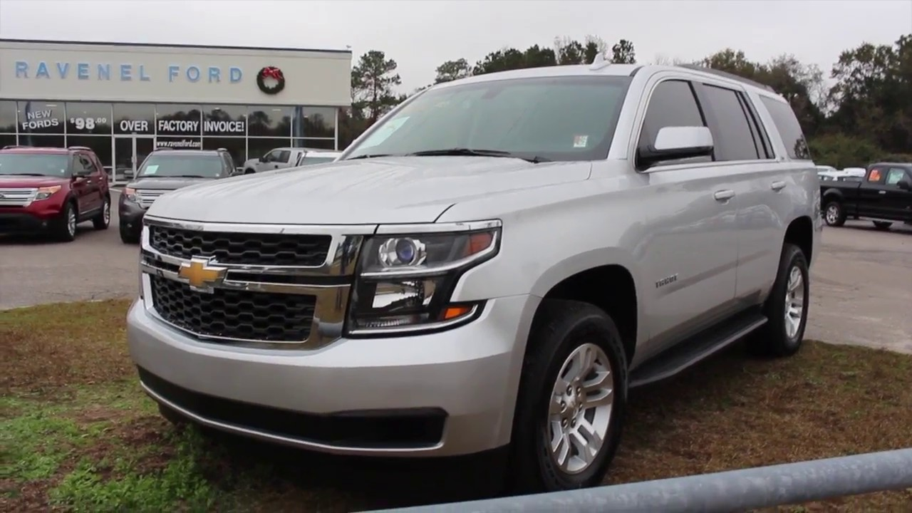 2016 chevrolet tahoe ls full for sale review with condition report at ravenel ford youtube. Black Bedroom Furniture Sets. Home Design Ideas