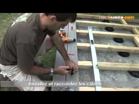 Installation d 39 un spot de terrasse youtube for Installer un lampadaire exterieur