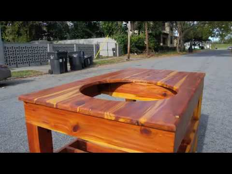 TAPROOT Cedar Cook Table - YouTube