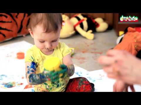 Рисование для самых маленьких. Пальчиковые краски Каляка-Маляка
