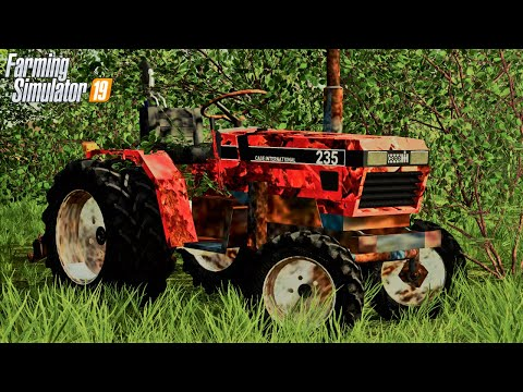 WE FOUND GRANDPA'S OLD CASE GARDEN-TRACTOR (ROLEPLAY) FARMING SIMULATOR 19