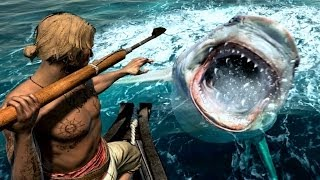 Assassin's Creed 4 Hunting JAWS Great White Shark