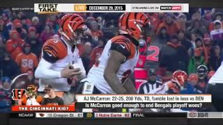 ESPN First Take 12 29 15   AJ McCarron of Cincinnati Bengals set for MRI on wrist