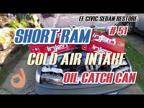 Cold Air Intake Replacement, Oil Catch Can! EF Civic Sedan Restore #51
