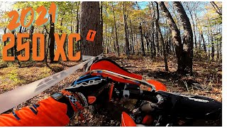 Test riding the 2021 KTM 250 XC at Crow Canyon!