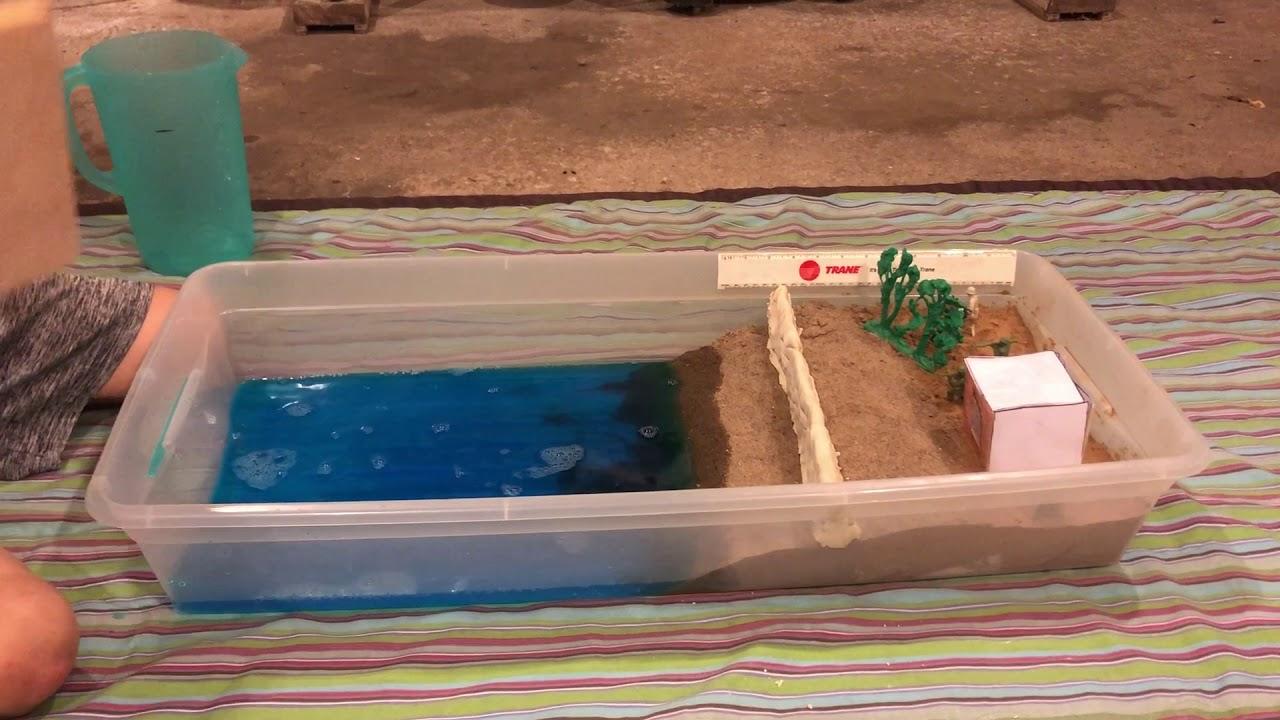 tsunami model with wall