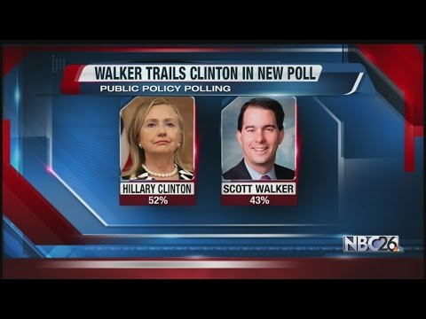 Clinton Leads Walker in New PPP Presidential Poll