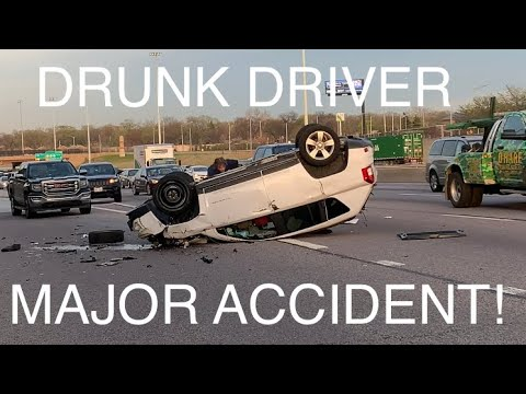 Drunk Driver Causes Major Accident Caught On Video