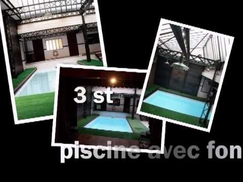 zazou loft avec piscine 75020 paris location de salle paris 75 youtube. Black Bedroom Furniture Sets. Home Design Ideas