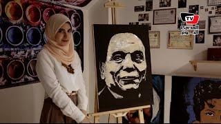 «آية».. رسامة تأكل لوحاتها