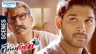 allu Arjun Powerful Warning | Race Gurram Movie Scenes | Shruti Haasan | Thaman S | Telugu FilmNagar